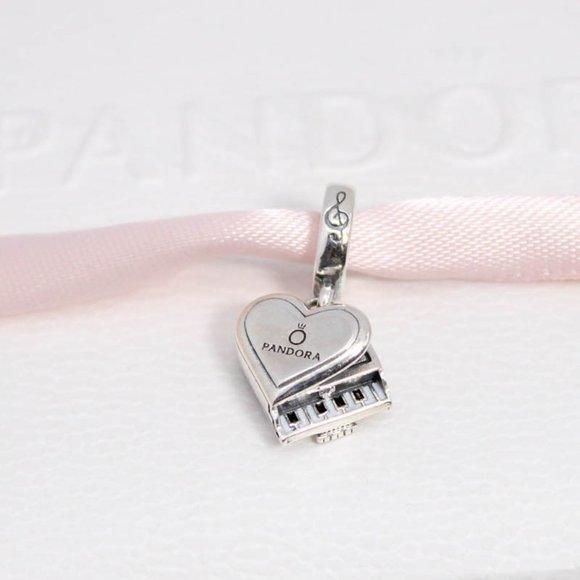 Pandora Grand Piano Heart Dangle Charm